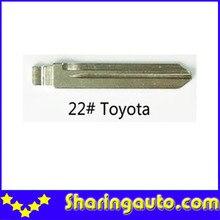 Metal Blank Uncut Flip Remote Key Blade  Type 22# for Toyota 10pcs/lot