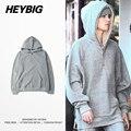 Divisão lado Zíper para cima Capa 2016 De Dezembro. Bieber Juventude moda High Street roupas fatos de Treino de Inverno Lã Quente Chinês tamanho