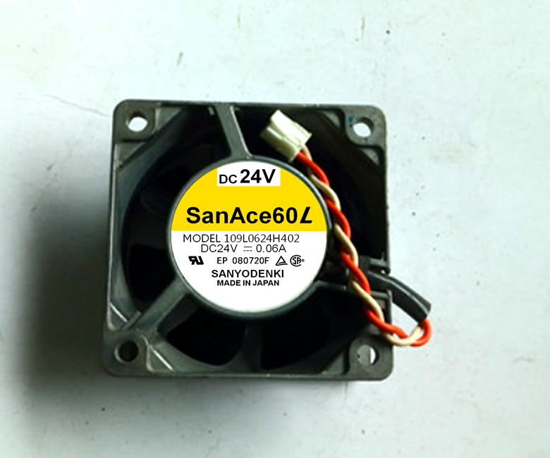 Original SANYO 109L0624H402 / S4D01 24V 0.06A / 0.08A 6025 60 * 60 * 25 Aluminum frame cooling fan...
