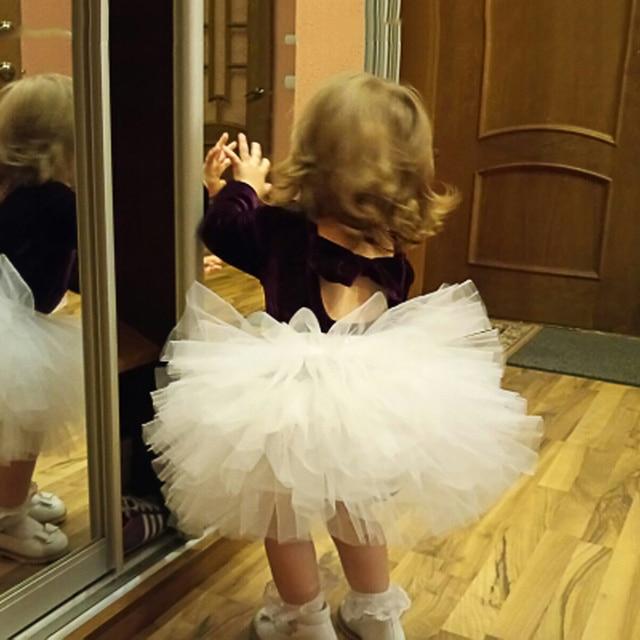 Thời trang Bé Gái Tutu Siêu Lông Tơ 6 Lớp petticoat Ballet Công Chúa Dance VÁY TUTU BÉ Bánh Váy Chritsmas Trẻ Em Quần Áo