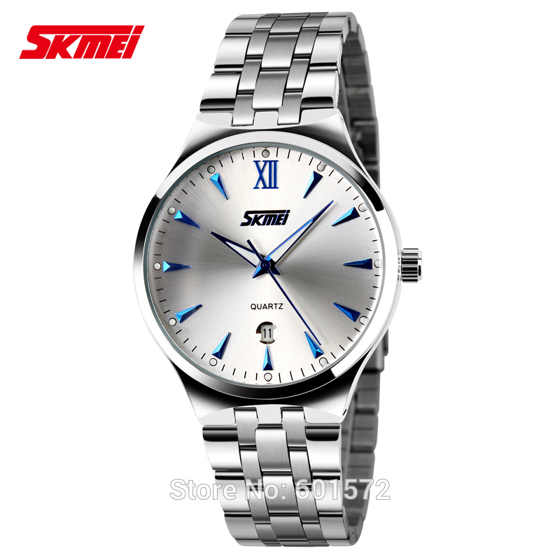 Men's Business Casual Watches Quartz Watch Men Luminous Stainless Steel Wristwatches men luxury brand Skmei Montre Relojes 2017 mce top brand mens watches automatic men watch luxury stainless steel wristwatches male clock montre with box 335