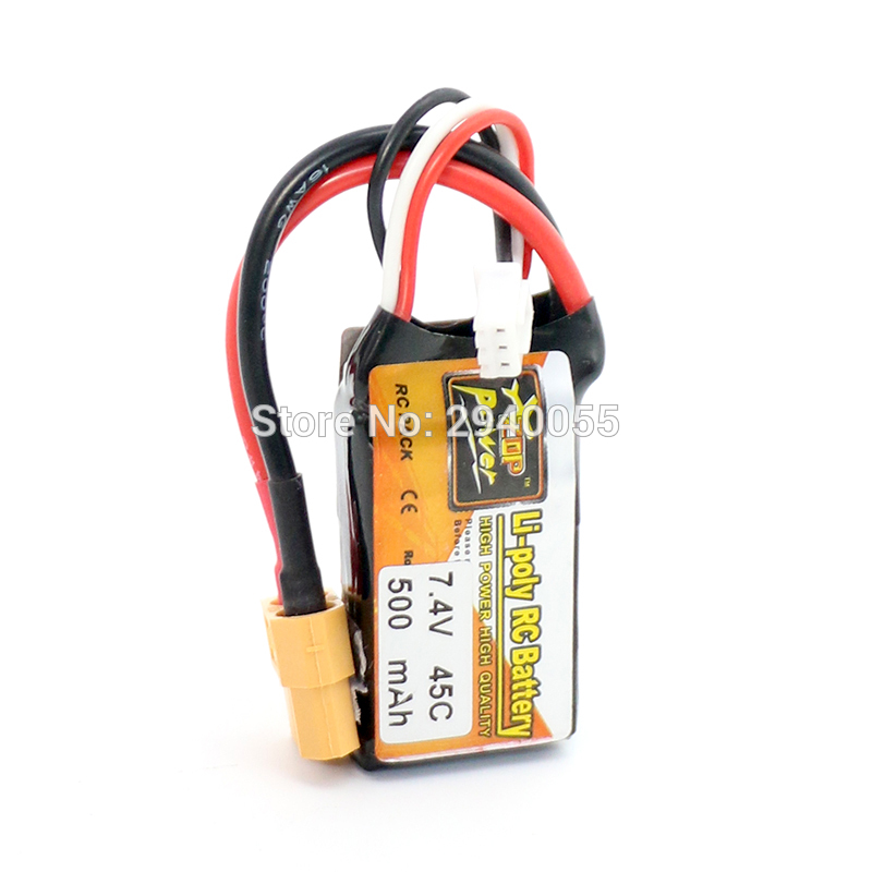 ZOP Power LiPo Battery 10pcs 7.4V 500mAh 45C 2S XT60 Plug For RC Quadcopter Drone Helicopter Car Airplane