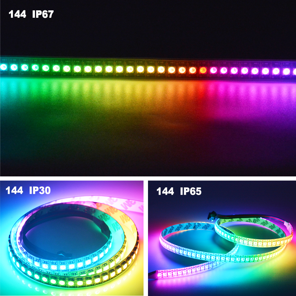 O APA102 SK9822 Bande de pixels DEL intelligente 30/60/144 DEL / - Éclairage LED - Photo 6