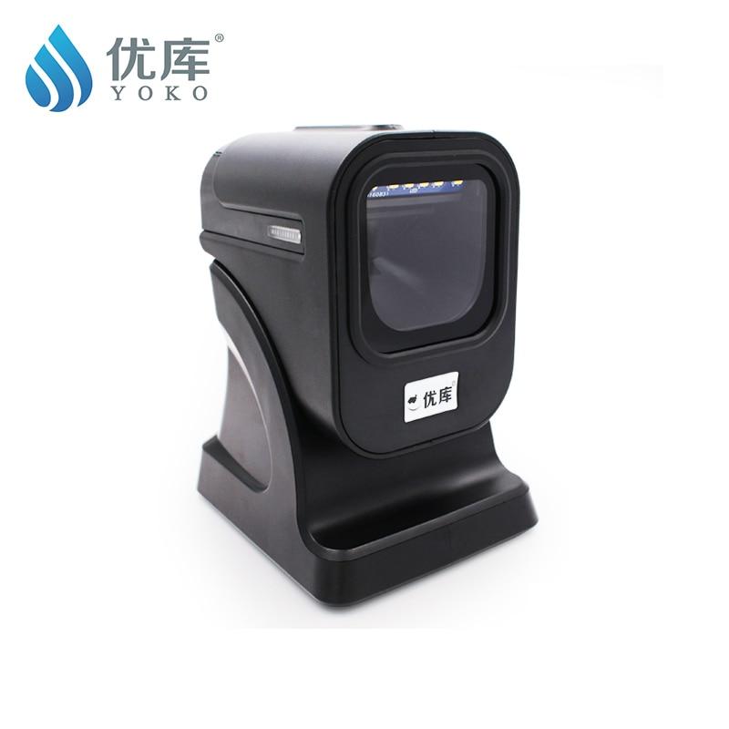1D / 2D / QR Labākais prezentācijas skeneris USB Virtual COM Omni virziena svītrkodu skeneris 2D virziena svītrkods Bezmaksas piegāde