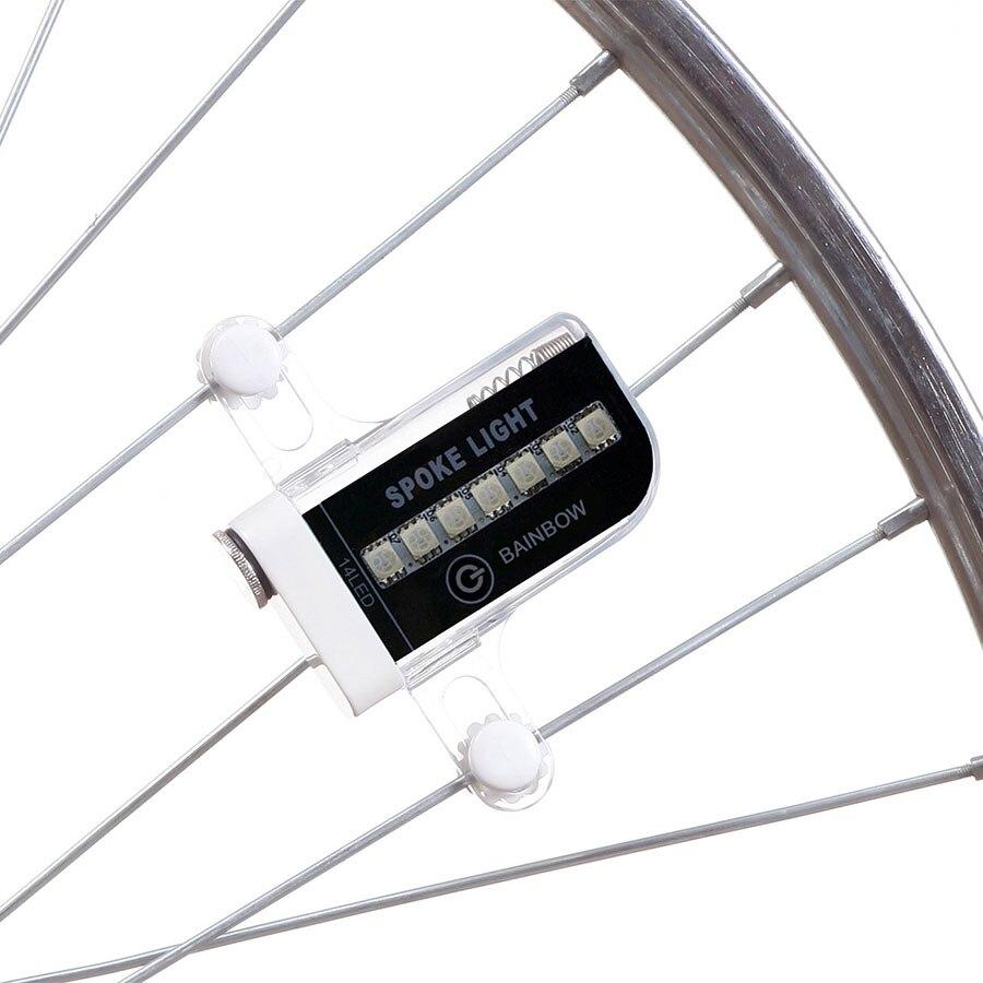 Deemount 2PCS Lot Colorful 14 RGB LEDs Bicycle Wheel Light Spoke Signal Warning Lamp 30 Patterns On/off Switch movement sensor