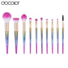 Docolor 10PCS makeup brush set Fantasy Set Professional high quality brushes Foundation Powder Eyeshadow Kits Gradient