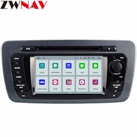 ZWNAV Android 9.0 Car DVD Player For Seat Ibiza IPS 7inch Android Radio Ibiza GPS with Mirroring link RDS Free 8G Map Card