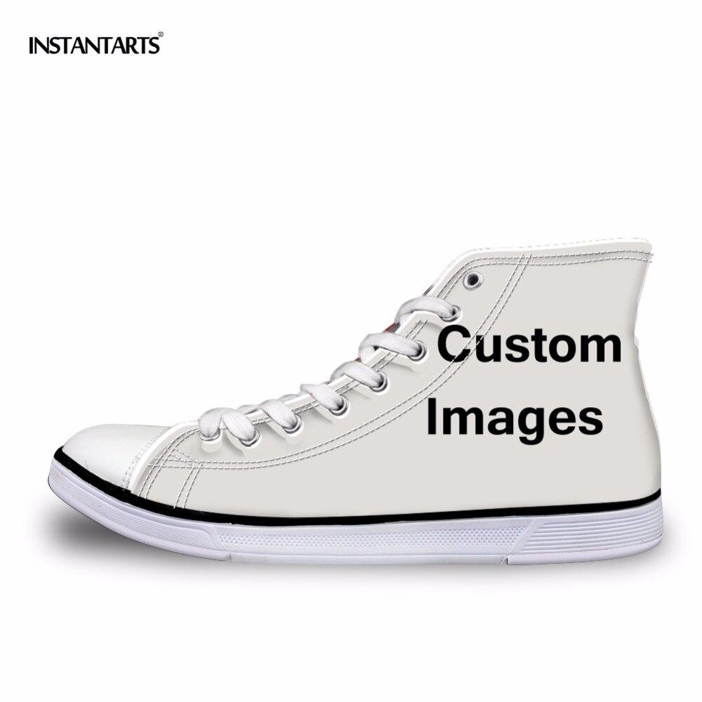 Instantarts классический Для женщин высокие вулканизируют Обувь индивидуальные образы/Прямая доставка/оптовая продажа женские Повседневное пл...