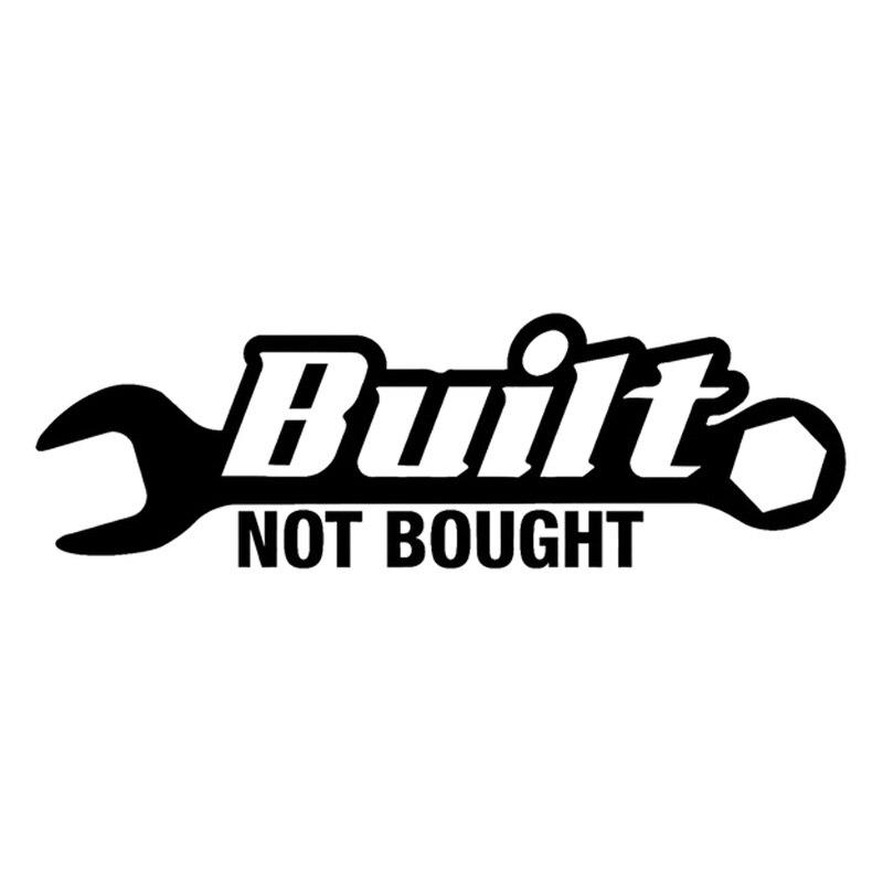 16.3 см*5.3 см построен не купил гаечный ключ автомобиль мотоцикл наклейки наклейка черный/серебристый С3-4781