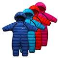 Детская Зима Белая Утка Вниз Комбинезон Высокое Качество Baby Rompers Комбинезоны Outwears для Зимних Детские Комбинезоны Новорожденных Clothing