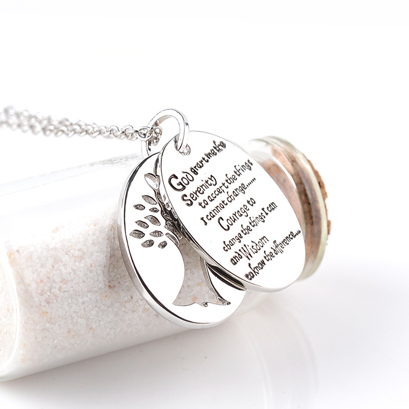 Tree of life god bible 2in1 serenity prayer charm pendant necklace tree of life god bible 2in1 serenity prayer charm pendant necklace women men prayer jewelry charms necklaces gifts in pendant necklaces from jewelry mozeypictures Image collections