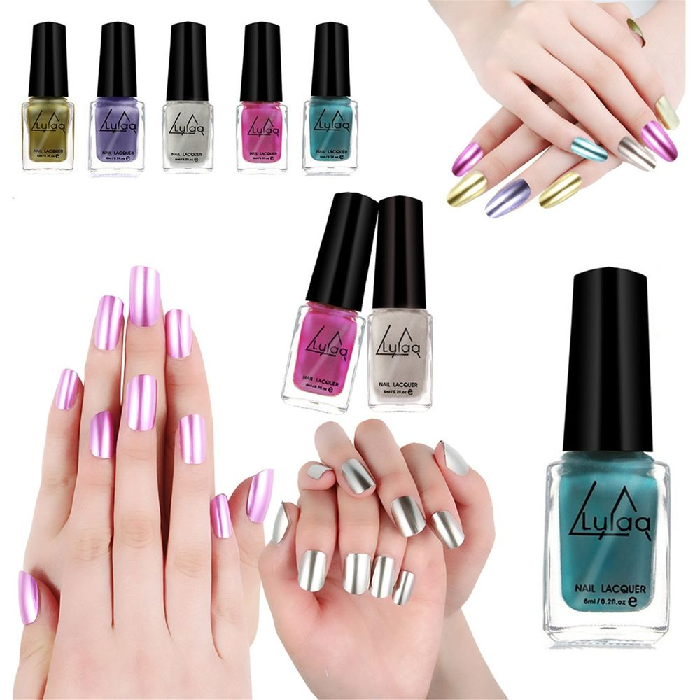 6ml Diy Durable Stripping Nail Polish Glue Art Gel Lacquer Newest Colors Gorgeous Mirror Metal Bright Manicure Tool In From Beauty