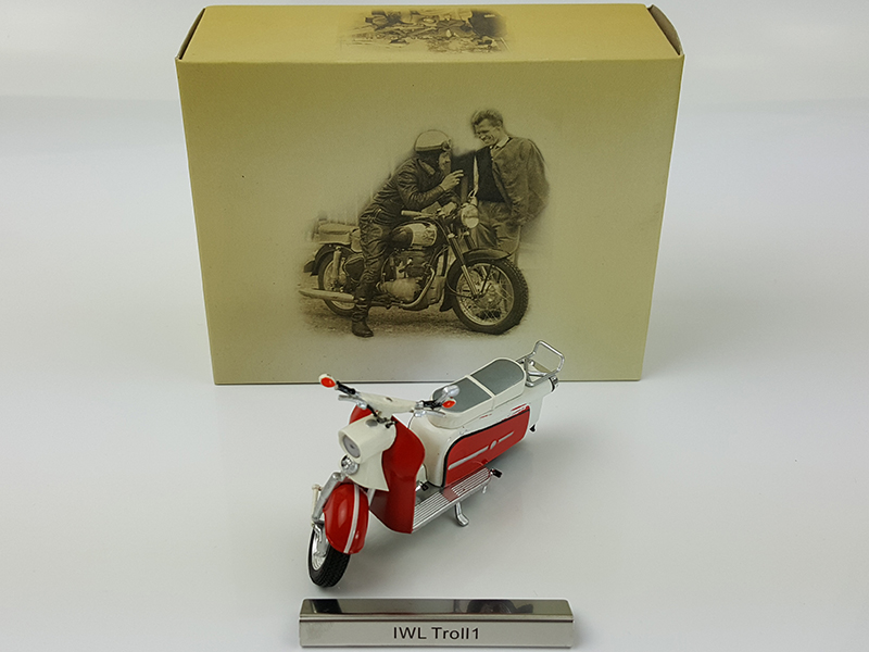 Rare 1:24 IWL Troll1 alloy model motorcycle model Collection model