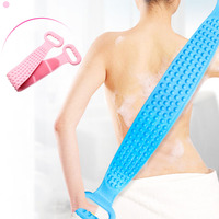 New Bath Towel Silica Gel Men Women Powerful Rubbing Back Mud Rubbing Gray Artifacts Long Back Skin Soft Body Cleaning Scrubber