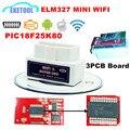 Super MINI V1.5 Hardware PIC18F25K80 Blanco WIFI ELM327 Apoya Todos Los Protocolos OBD2 ELM 327 WIFI Para Android Torque/iOS/PC