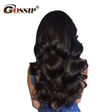 Gossip Pre Plucked Full Lace Human Hair Wigs For Black Women Body Wave Brazilian Hair Wigs 5″ Swiss Lace Frontal Wig Non Remy
