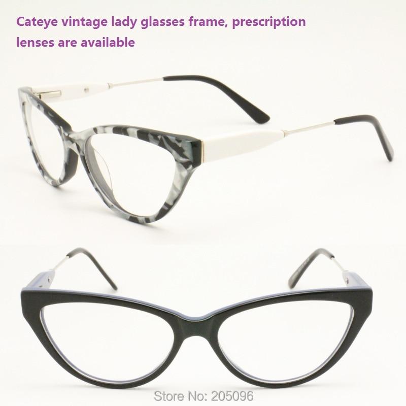 68694ef615d70b RB26664 classique acétate de plein-jante cateye avant flexi charnière  combiné alliage temple optique lunettes cadres livraison gratuite