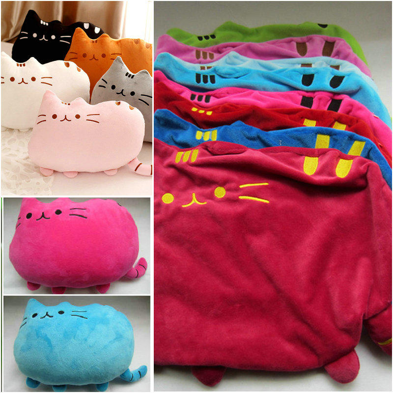 New Style 15 colors 40*30cm  plush toy stuffed animal doll, anime toy pusheen cat skin girl kid kawaii,cushion brinquedos Kids 40 30cm plush toys stuffed animal doll without pp cotton juguetes toy pusheen cat brinquedos for kid kawaii peluches cute pillow