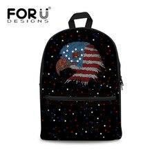 f1ffe596af FORUDESIGNS American Flag Stampa Zaini Donne Tela Zaino della Scuola Per  Teenage Girl Casual Zaino Bookbag
