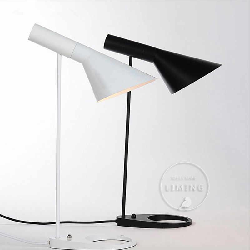 Регулируемые Арне Якобсен настольная лампа Европа настольная лампа проход кафе зал читать огни E27 светодиодный лампы Спальня