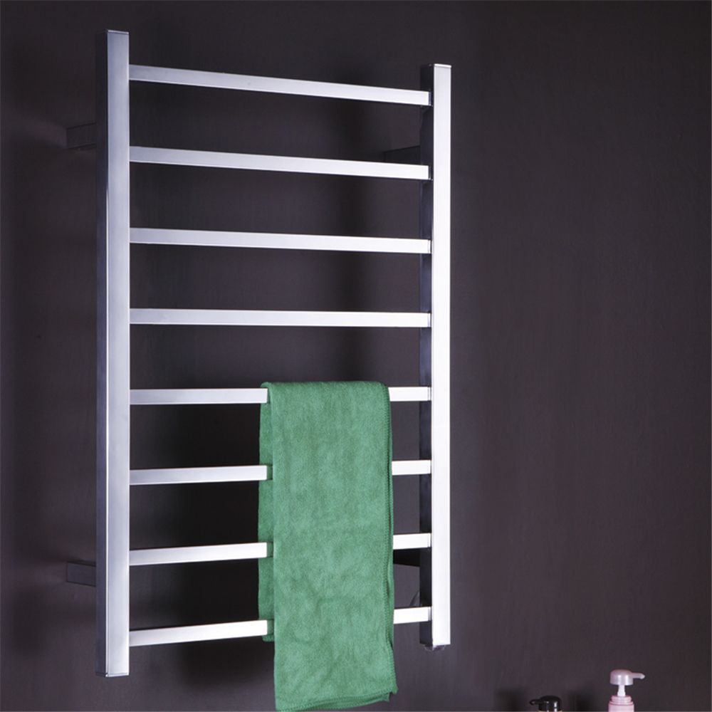 1pcs Heated Towel Rail Holder Bathroom Accessoriestowel: Wall Mounted Towel Warmer Electric Heated Towel Rail