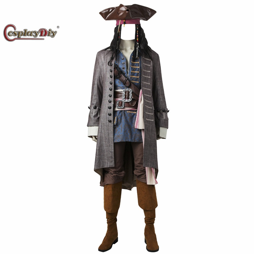 cosplaydiy pirates of the caribbean costume captain jack sparrow jpg 1000x1000 hellboy costumes for men