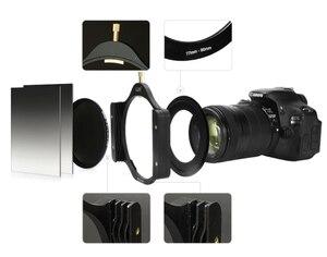 "Image 4 - Metal Aluminum 100mm Filter Holder + 52/55/58/62/67/72/77/82mm Slim Adapter Ring for Lee Hitech Haida Cokin 4X4""/5.6/5 Filters"