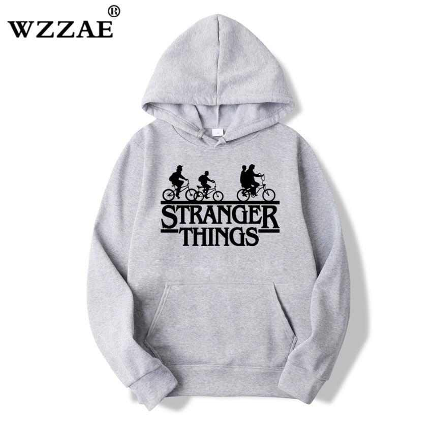 Мужские толстовки с капюшоном Stranger Things, модные толстовки оверсайз в стиле хип-хоп для осени и зимы, 2019