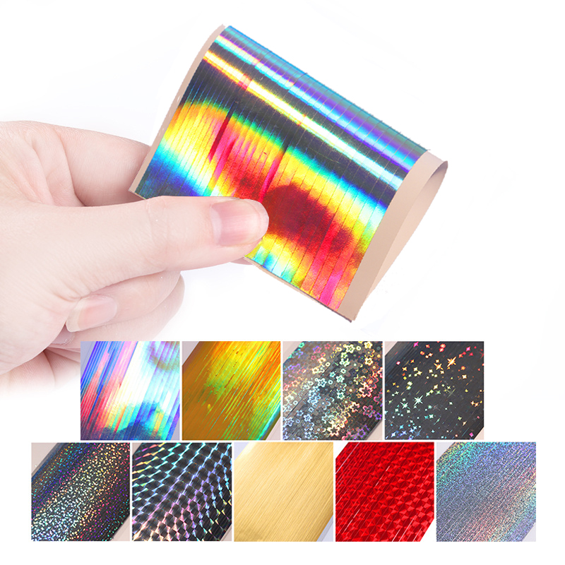 1 Vel Holo Strip Tape Nail Art Stickers Ultra dunne laser zilver - Nagel kunst