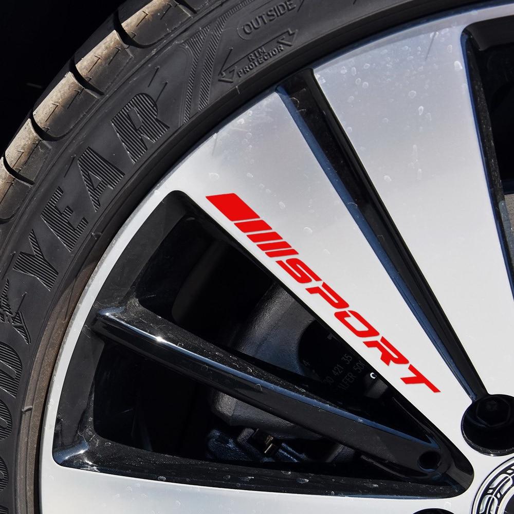 4 pcs racing sport alloy rims wheel decal sticker graphic for mercedes benz a c e