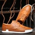 2016 Новые Мужские Повседневная Обувь Кожи Высокого Качества Моды Мужской Обуви Высокого Класса Дышащий Британский Стиль Бизнес Повседневная Обувь