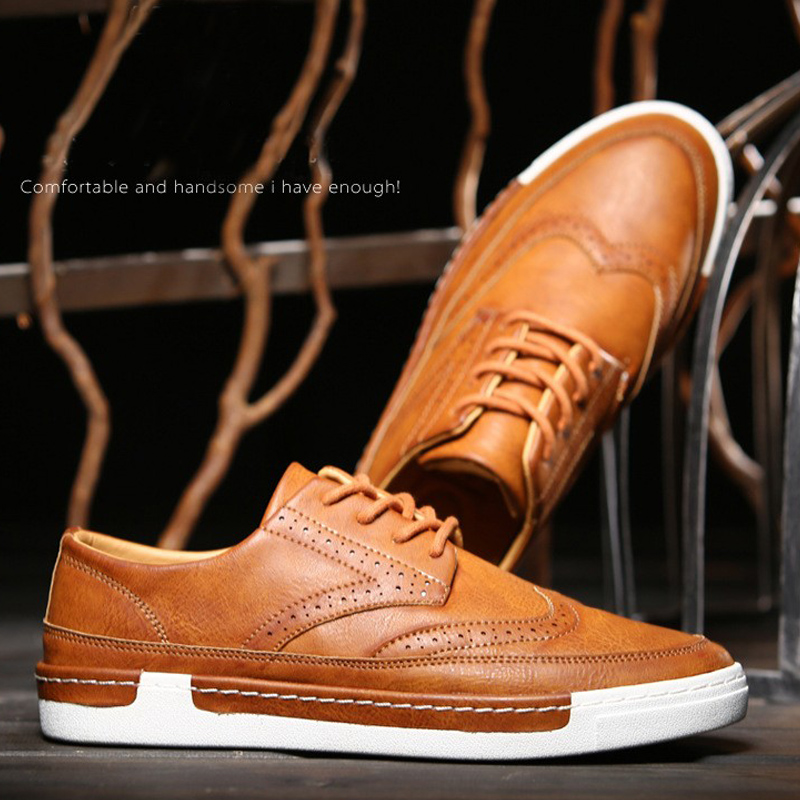 2016 New Men'S Casual Shoes High Quality Leather Fashion Men Shoes High-End Breathable British Style Business Casual Shoes maden 2017 new fashion designer men leather casual shoes high quality zapatillas deportivas hombre british style summer shoes