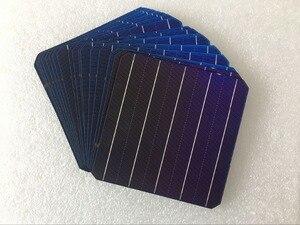 Image 2 - 10 ピース 5 ワット 156.75*156.75 ミリメートル太陽光モノラルソーラーパネル携帯 6 × 6 グレード A 高効率 diy の単結晶シリコンパネル