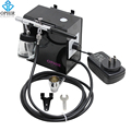 OPHIR Black 0.35mm Down-Pot Dual Action Airbrush Kit with Adjustable Air Compressor Kit for Makeup Model Hobby Paint_AC095+AC072