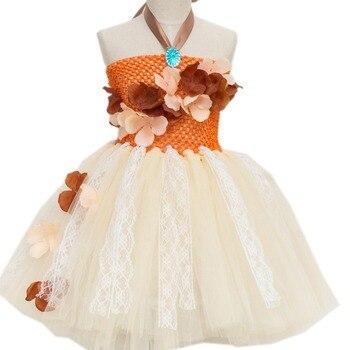 Tutu Kleid Regenbogen Baby Kinder Tutu Spitze Kleid Moana Prinzessin ...