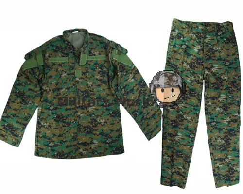 Airsoftsports Tactical Uniform Army Tactical Military Uniform Clothing  Combat BDU Uniform Army Digital Woodland Camouflage-in Hunting Ghillie  Suits from ... f6befed2069