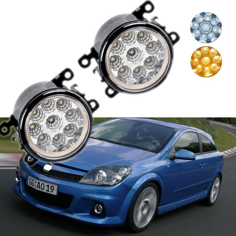 For Opel Astra OPC G H 2002-2010 9-Pieces Leds Chips LED Fog Light Lamp H11 H8 12V 55W Halogen Fog Lights Car Styling салонный фильтр opel astra g h zafira iveco daily iv v vi 06 11 14