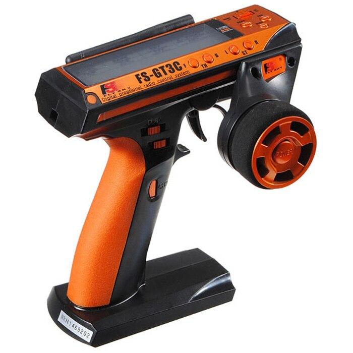 Flysky date FS-GT3C GT3C 2.4G 3CH pistolet RC contrôleur/w récepteur, batterie TX, câble USB, poignée-FS-GT3B amélioré GT3B F02129