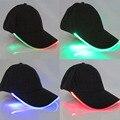 6 Cores Boné de Beisebol Da Forma CONDUZIU a Luz do Flash LED Iluminado Tecido brilho Club Party Esportes Atlético Preto boné de Beisebol Do Chapéu de Viagem Cap