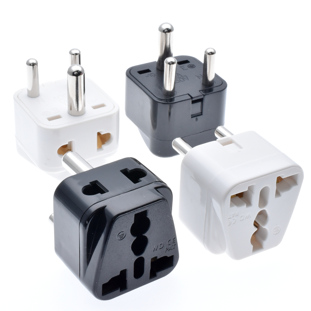 universal 2 in 1 grounded india pakistan israel singapore power connector japan au eu us uk [ 1024 x 1024 Pixel ]