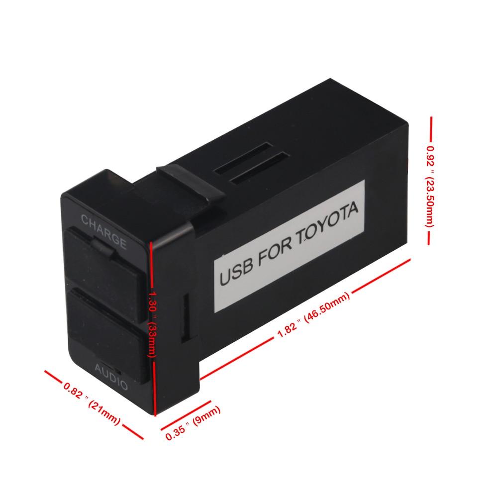 Toyota USB Adapter Adapter Port Kabel İnterfeysi Səs Sistemi 2.1A - Cib telefonu aksesuarları və hissələri - Fotoqrafiya 6