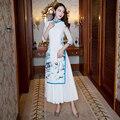 Mode Chinesischen Stil Lange Cheongsam Neue Ankunft frauen Rayon Kleid Elegante Qipao Vestidos Größe S M L XL XXL XXXL 6X5809