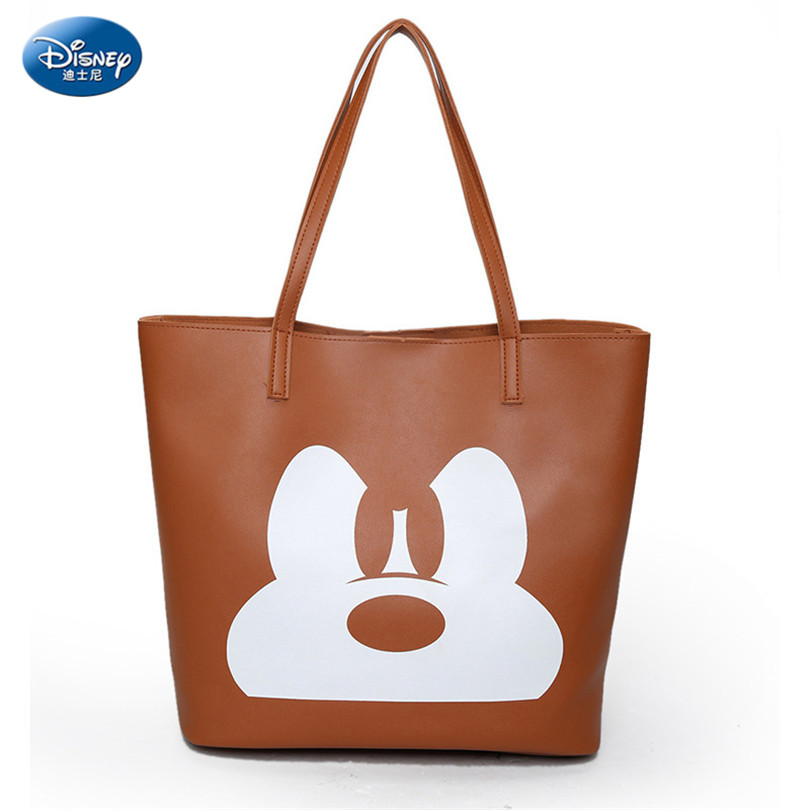 Disney 2019 Fashion Handbag Pu Leather Women Leather Handbags Ladies Cartoon Printing Women Tote Bag Female Shoulder Bag Hd122