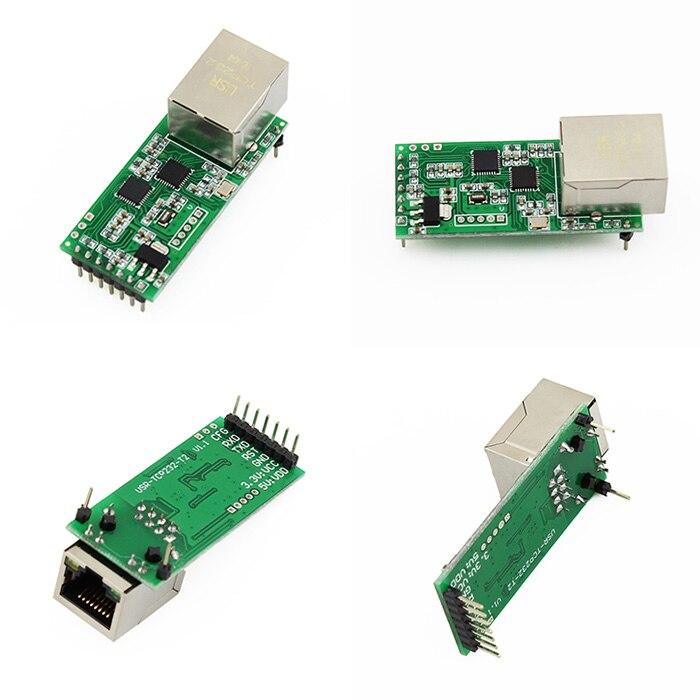 5pcs USRIOT USR TCP232 T2 Tiny Serial Ethernet Converter Module Serial UART TTL to Ethernet TCPIP