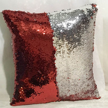 Sequin Cushion Cover Reversible Pillow Case DIY