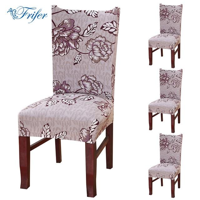 4 pcs spandex chaise siege couvercle salle a manger housses amovible universal stretch chaise de protection