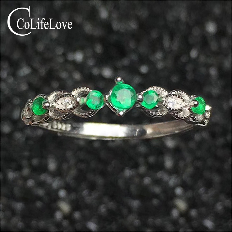 Fashion emerald ring for party 5 pcs natural Zambia emerald silver ring solid 925 silver emerald jewelry birthday gift for girl fashion silver wing pendant with emerald 17 pcs natural emerald pendant for party solid 925 silver emerald jewelry for woman