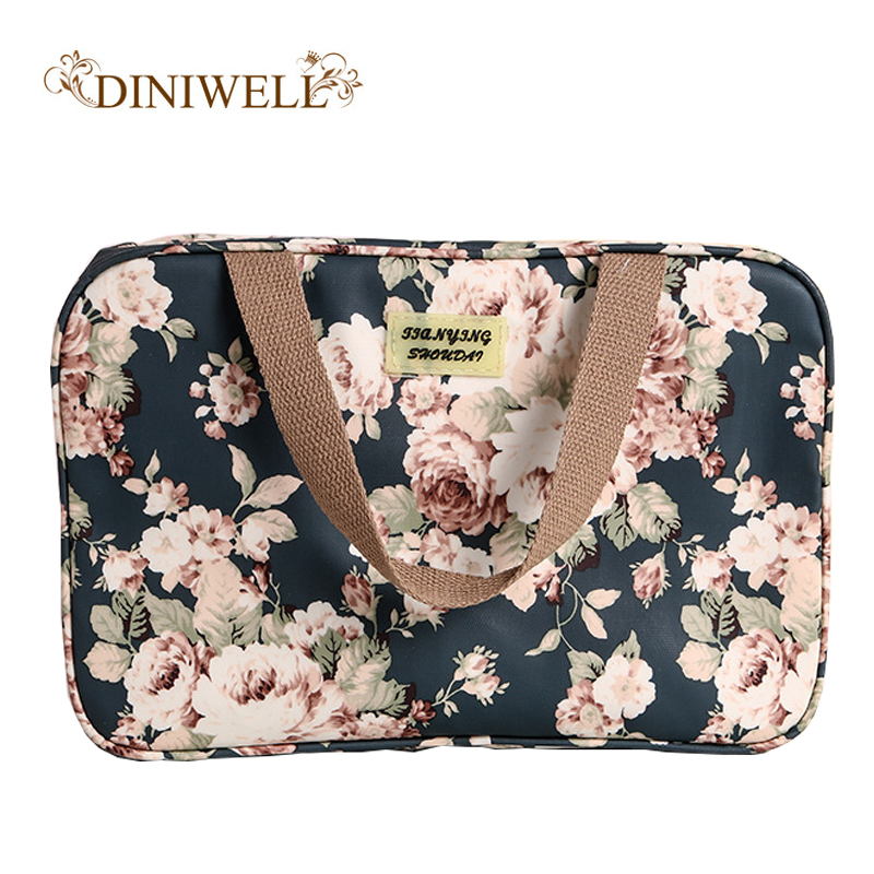Waterproof Cosmetic Bags Women Printing Storage Organizer Handbag Travel Toiletry Bag Women Bolso Mujer Makeup Necessaries