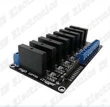 1PCS/LOT 8 Channel 5V DC Relay Module Solid State High Level OMRON SSR AVR DSP for Arduino