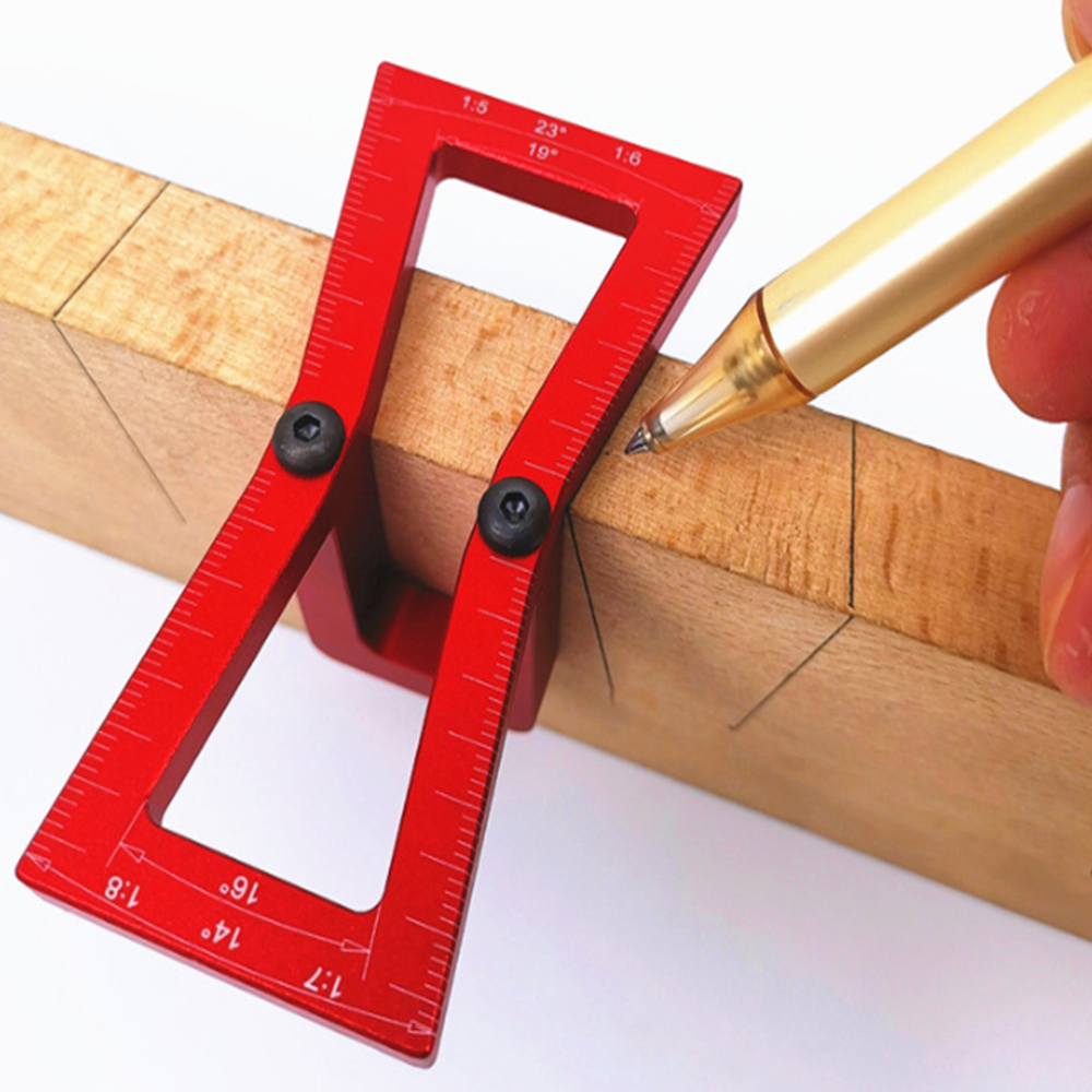 Dovetail Marker Hand Cut Wood Joints Gauge Dovetail Guide Tool With Scale Slopes Scriber Marking Carpentry Tools